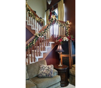 Christmas Stair Railing in Royal Oak MI, Affordable Flowers