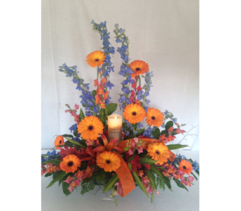 Fresh Flower Design with Memory Candle in Crafton PA, Sisters Floral Designs