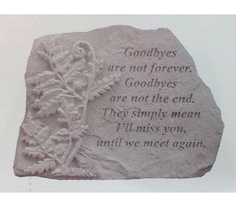 Goodbyes are not...w/fern in Grand Ledge MI, Macdowell's Flower Shop