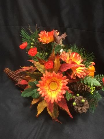 Silk Cornucopia arrangment  in Sitka AK, Bev's Flowers & Gifts
