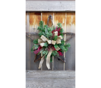 Star with Burlap Bow in Lawrence KS, Owens Flower Shop Inc.