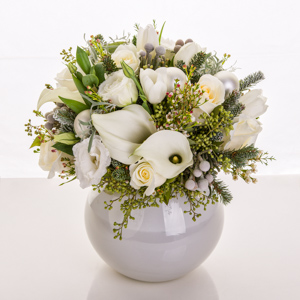 Whispers White in New York NY, Starbright Floral Design