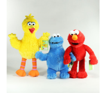 Sesame Street Plush Set in Princeton, Plainsboro, & Trenton NJ, Monday Morning Flower and Balloon Co.