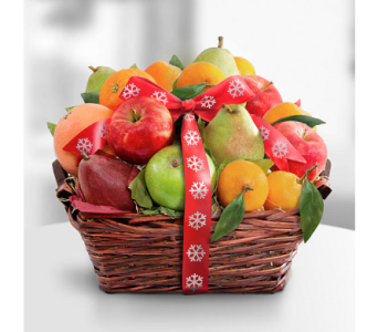 Fruitful Tidings Holiday Fruit Basket in Manhattan KS, Westloop Floral