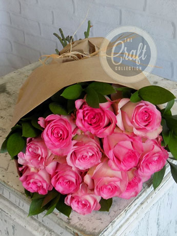 Wrapped Roses in Pink in Fort Myers FL, Fort Myers Floral Designs