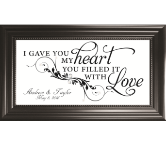 I Gave You My Heart *PERSONALIZED* in Isanti MN, Elaine's Flowers & Gifts