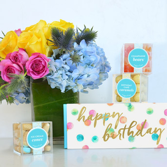 Party Time   Sugarfina Birthday Bento in Dallas TX, Dr Delphinium Designs & Events