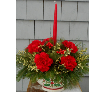 Holly Jolly Centerpiece in Skowhegan ME, Boynton's Greenhouses, Inc.