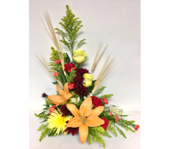 Autumn Thoughts Styled Arrangement in Wyoming MI, Wyoming Stuyvesant Floral