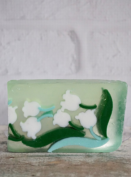 Lily of the Valley Soap Slice in Raleigh NC, Fallons Creative Flowers
