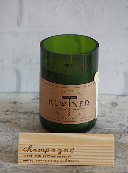 Rewined Champagne Candle in Raleigh NC, Fallons Creative Flowers