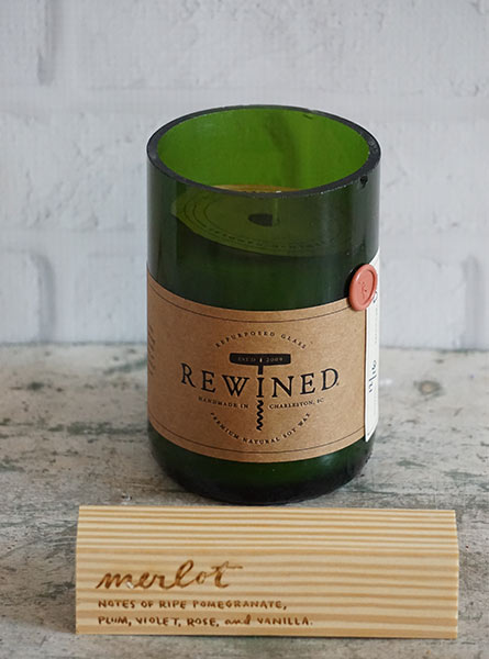 Rewined Merlot Candle in Raleigh NC, Fallons Creative Flowers