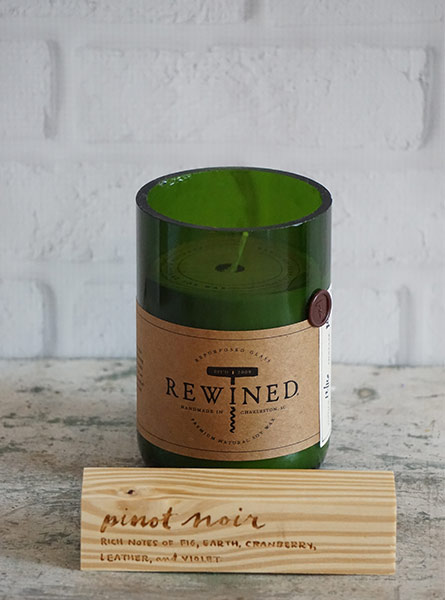 Rewined Pinot Noir Candle in Raleigh NC, Fallons Creative Flowers