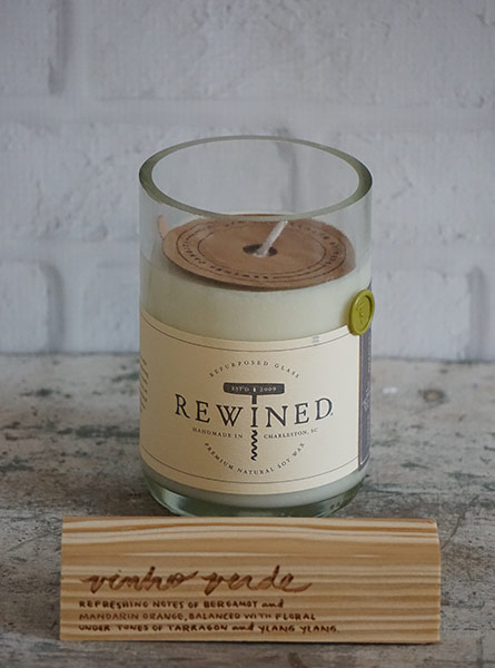 Rewined Vinho Verde Candle in Raleigh NC, Fallons Creative Flowers