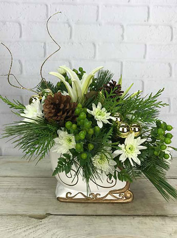 Sleigh Bells in White in Fort Myers FL, Fort Myers Floral Designs