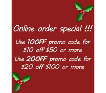 Holiday Promotion in Modesto CA, Flowers By Alis