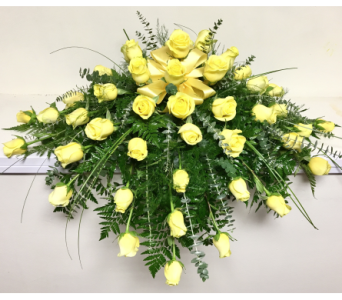 48 Yellow Roses in Casket Spray in Wyoming MI, Wyoming Stuyvesant Floral