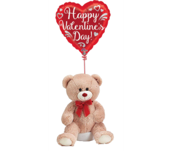 Valentine's Day Balloon and Bear in Princeton, Plainsboro, & Trenton NJ, Monday Morning Flower and Balloon Co.