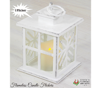 Winter Flameless Lantern in Indianapolis IN, Steve's Flowers and Gifts