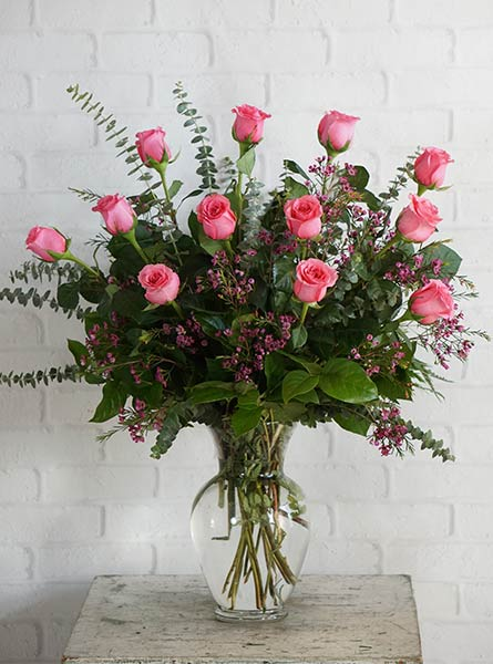 One Dozen Ultimate Pink Roses in Denver CO, Lehrer's Flowers