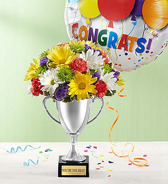 Trophy Bouquet with Balloon in Camp Hill and Harrisburg PA, Pealer's Flowers
