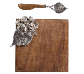 Mud Pie� Hydrangea Small Cutting Board Set in Moorhead MN, Country Greenery