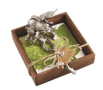 Mud Pie� Hydrangea Napkin Holder in Moorhead MN, Country Greenery