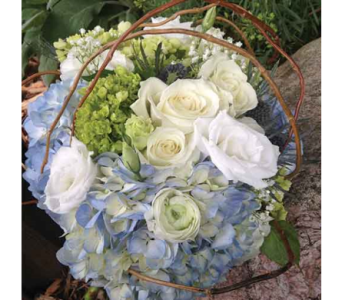 Blue & Green Hydrangea Bouquet in Chelsea MI, Chelsea Village Flowers