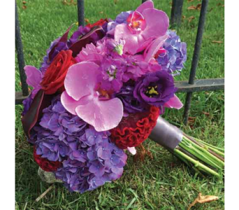 Purple & Red Orchid Bouquet in Chelsea MI, Chelsea Village Flowers