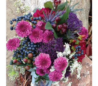 Berry Pink & Purple Bouquet in Chelsea MI, Chelsea Village Flowers