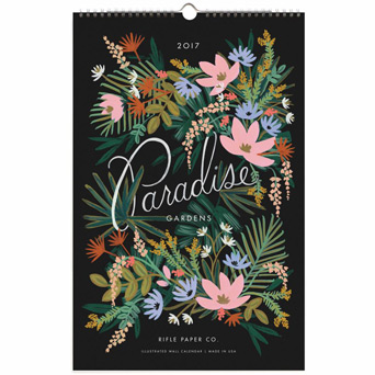 Featured January Gift Pick: 2017 Paradise Calendar in Dallas TX, Dr Delphinium Designs & Events