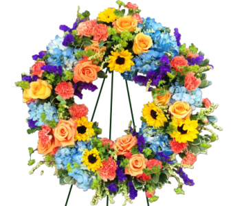 Springtime Heartfelt Wreath  in Princeton, Plainsboro, & Trenton NJ, Monday Morning Flower and Balloon Co.