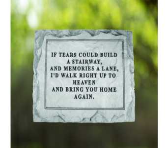 If Tears Could Build Memorial Stone in Indianapolis IN, George Thomas Florist