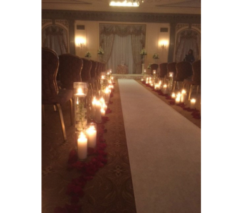 Hotel duPont Vows by Candlelight  in Middletown DE, Forget Me Not Florist & Flower Preservation