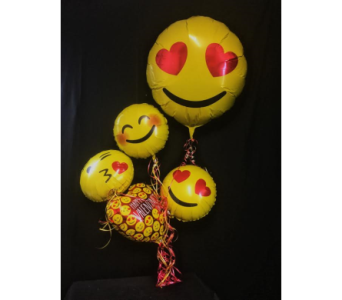 EMOJI BALLOON BOUQUET in Greenville SC, Expressions Unlimited