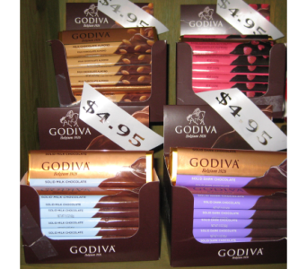 GODIVA BARS in Toledo OH, Myrtle Flowers & Gifts