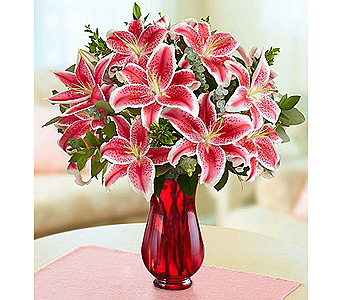 Stunning Pink Lilies in Fredericksburg VA, Finishing Touch Florist