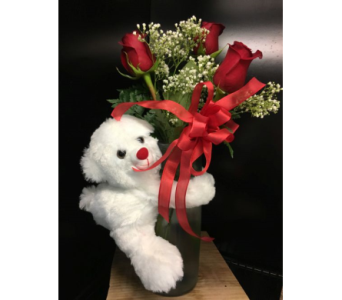 Bear Hug Arrangement in Guelph ON, Patti's Flower Boutique