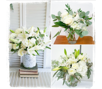 White Vase Mix in Greensboro NC, Sedgefield Florist & Gifts, Inc.