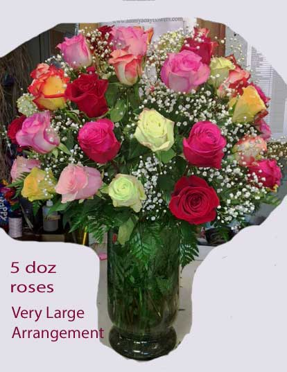 The Oh La La 60 Rose Arrangement in Lake Charles LA, A Daisy A Day Flowers & Gifts, Inc.