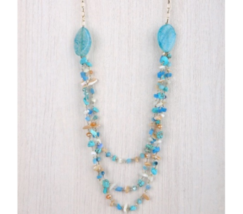 Marissa Long Chipped Stone Necklace in Virginia Beach VA, Fairfield Flowers