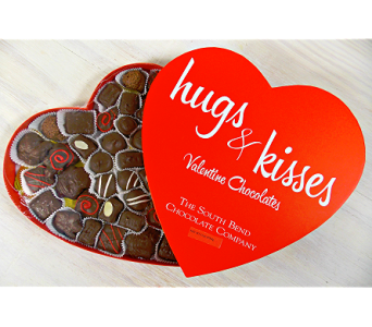31oz Hugs and Kisses Heart Box in Indianapolis IN, Steve's Flowers and Gifts