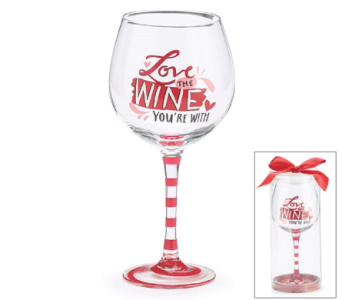 Love the Wine You're With Glass in Princeton, Plainsboro, & Trenton NJ, Monday Morning Flower and Balloon Co.