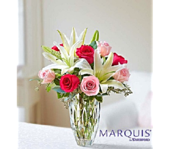 Waterford® Rose and Lily Bouquet in Palm Coast FL, Garden Of Eden