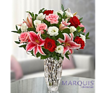 Waterford� Blushing Rose and Lily Bouquet in Palm Coast FL, Garden Of Eden
