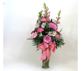 Charming Pink Bouquet in Royersford PA, Three Peas In A Pod Florist