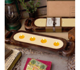 Himalayan Large Wood Candle Tray in Virginia Beach VA, Fairfield Flowers