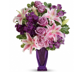 Blushing Violet Bouquet in Norristown PA, Plaza Flowers
