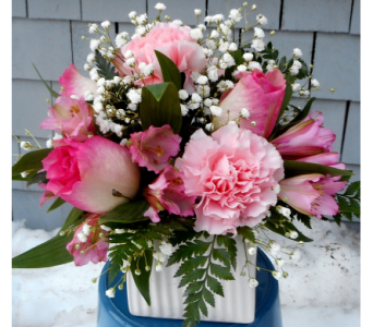 Triple Take in Pink in Skowhegan ME, Boynton's Greenhouses, Inc.