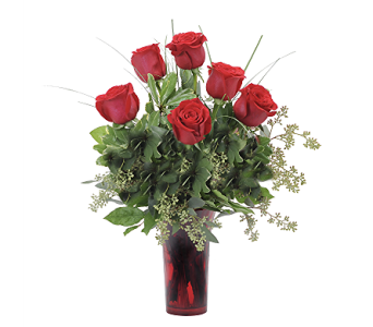 Six Roses in Muscle Shoals AL, Kaleidoscope Florist & Gifts